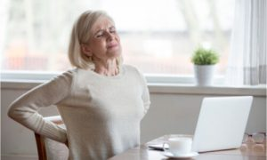 The woman is looking for natural treatment for nerve pain.